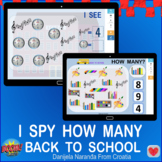 Back To School I Spy How Many Numbers Within 10 Bundle Boom Cards