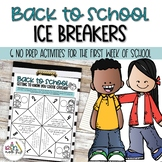 Back To School Ice Breakers | Getting to Know You Activities
