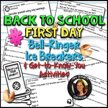Back To School Beginning of the Year Icebreaker Bell Ringer Activities