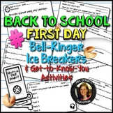 Back To School Beginning of the Year Icebreaker Bell Ringer Distance Learning