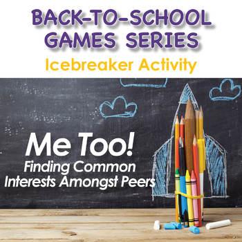 Back-To-School Icebreaker Game - Me Too!