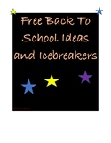 Back To School Ideas and Icebreakers