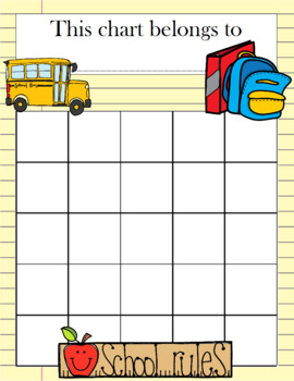 Back To School Incentive Chart