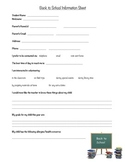Back To School Information Sheet {Noteworthy Font}