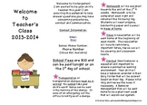 Back To School Informational Brochure
