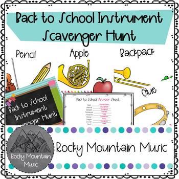 Back To School Instrument Scavenger Hunt