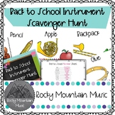 Back To School Instrument Scavenger Hunt