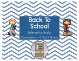 Back To School Interactive Books Possessive 's and Plural Nouns