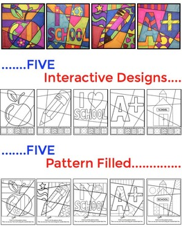Fun First Week of School Activity - Interactive Coloring sheets + writing!
