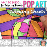 Back to School Ideas - Interactive Coloring sheets + writing!