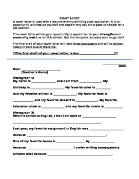 Back To School Introduction Cover Letter