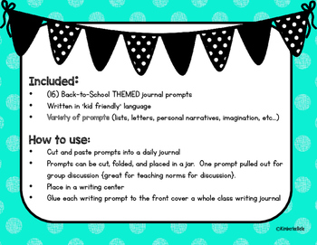 Back-To-School Journal Writing Prompts