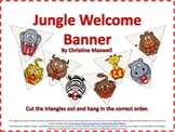 Back To School Jungle or Zoo Welcome Banner