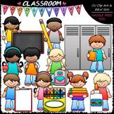 Back To School Kids - Clip Art & B&W Set
