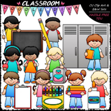 Back To School Kids - Clip Art & B&W Set
