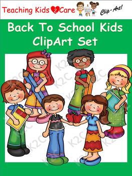 Back To School Kids ClipArt Set