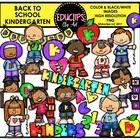 Back To School Kindergarten Clip Art Bundle {Educlips Clip Art}