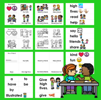 Back To School Kindness Emergent Readers - 2 Levels + Word Wall w/Pics