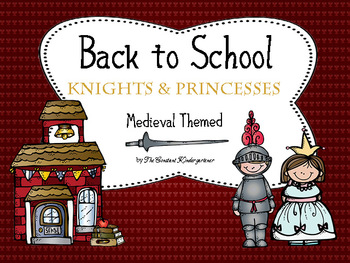 Back To School Knights and Princesses! - First Day - Editable