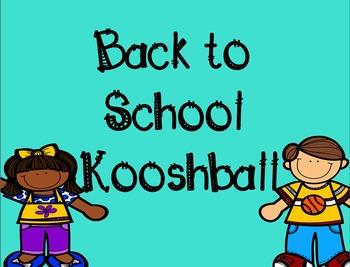 Back To School Kooshball Game for SMARTboard
