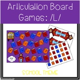 Back To School /L/ Articulation Board Games