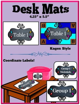 Back To School Labels- Chalkboard and Doodle Frames