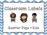 Back To School, Labels, Kids, Chevron