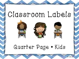 Back To School, Labels, Kids, Chevron