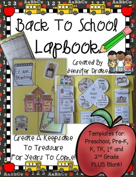 Back To School Lapbook / Memory Book For PreK-2!