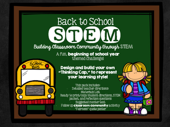 Back To School Learning Styles STEM Challenge & Community Building Activity