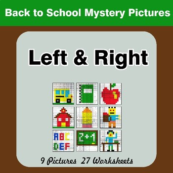 Back To School: Left & Right side - Color by Emoji - Mystery Pictures