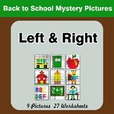 Back To School: Left & Right side - Color by Emoji - Myste