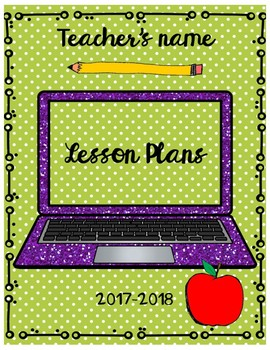 Back To School Lesson Plan Organizer and More