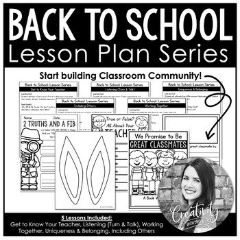 Back To School Lesson Series (5 Lessons to Start Building Classroom Community)