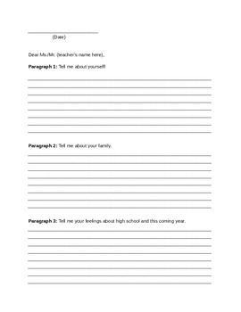 Back To School Letter