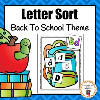 Back To School Letter Sort