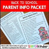 Meet the Teacher - Back To School - Letters to Parents