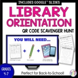 Back To School Library Orientation Scavenger Hunt with Secret Message (editable)