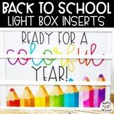 Back To School Light Box Inserts- Heidi Swapp or Leisure Arts