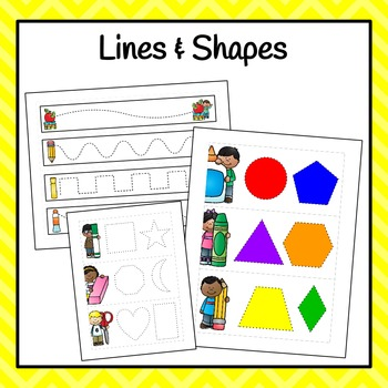 Back To School Line and Shape Tracers