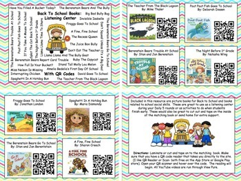 Back To School Listening Center With QR Codes (28 Books)