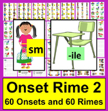 "Back to School Activities:  Onset Rime Level 2 ""Find A Seat!""-Common Core"