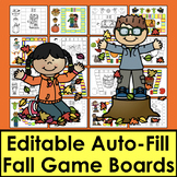 Fall Activities - Sight Words Game Boards-Set 1-Common Core