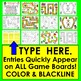Editable Game Boards Auto-Fill From ANY LIST School Theme Use Over & Over Set 2