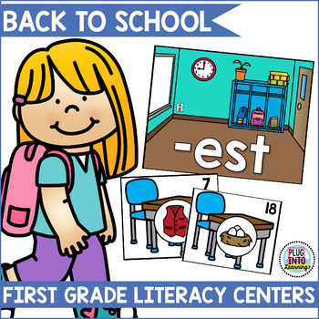 Back To School Literacy Centers for First Grade