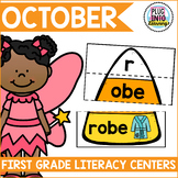 October Literacy Centers for First Grade