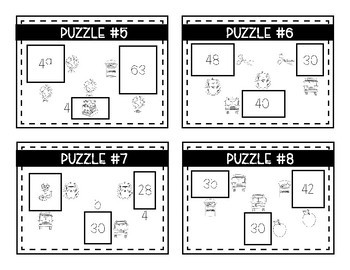 Back To School Math Logic Puzzles- Area, Perimeter and Multiplication