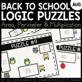 Back To School Math Logic Puzzles- Area, Perimeter and Mul