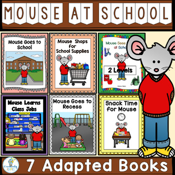 Back To School MEGA Bundle-7 Adapted Books (PreK-2/SPED/ELL)