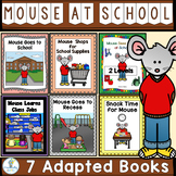 Back To School Book Bundle-7 Adapted Books (PreK-2/SPED/ELL)